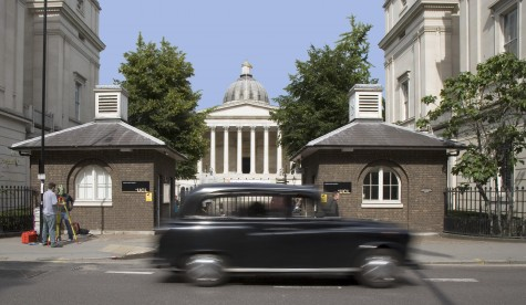 UCL black cab in view